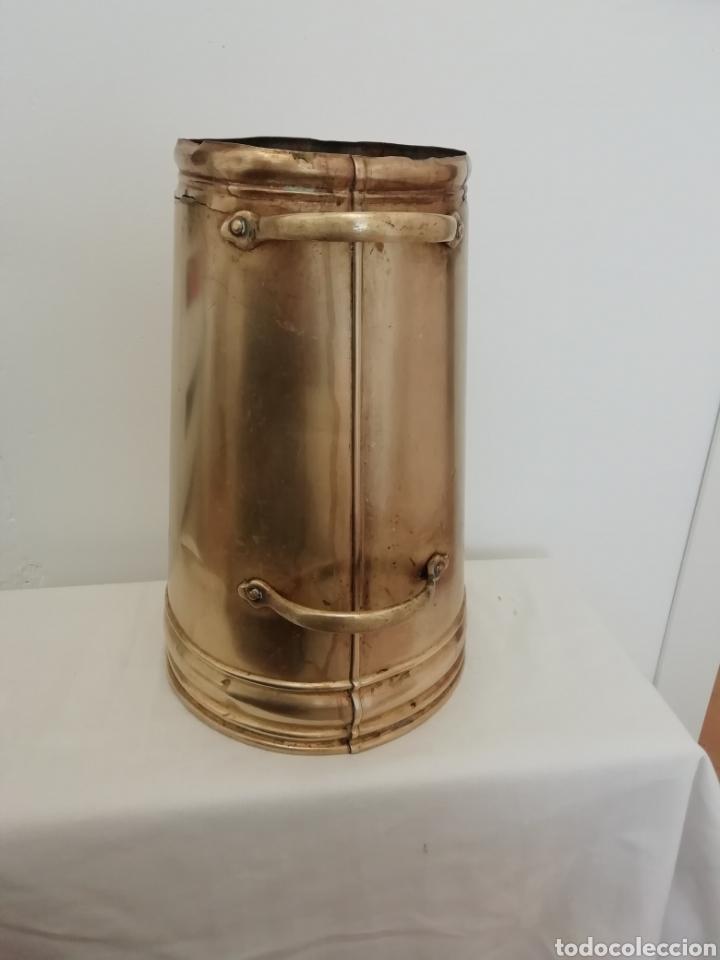 Antigüedades: Cantara medida de latón - Foto 2 - 218723450