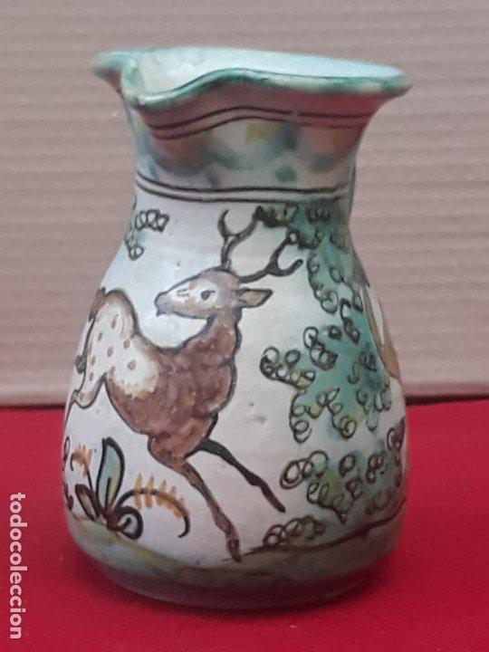 Antigüedades: 2 ) JARRA ANTIGUA EN CERAMICA PINTADA Y VIDRIADA DE PUENTE DEL ARZOBISPO ( TOLEDO ) - Foto 2 - 218738847
