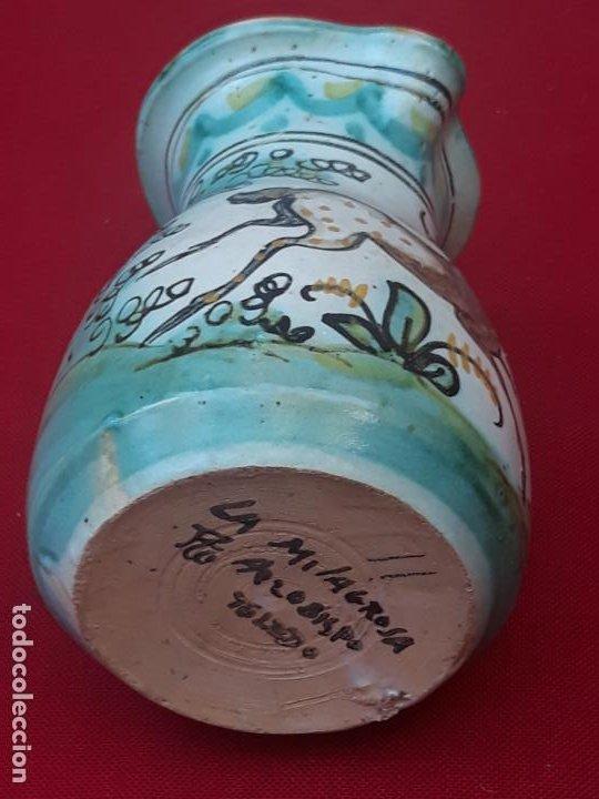 Antigüedades: 2 ) JARRA ANTIGUA EN CERAMICA PINTADA Y VIDRIADA DE PUENTE DEL ARZOBISPO ( TOLEDO ) - Foto 3 - 218738847