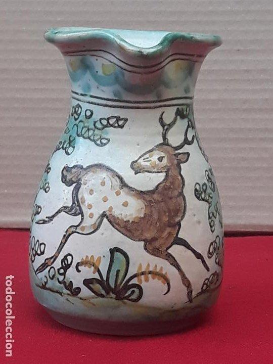 2 ) JARRA ANTIGUA EN CERAMICA PINTADA Y VIDRIADA DE PUENTE DEL ARZOBISPO ( TOLEDO ) (Antigüedades - Porcelanas y Cerámicas - Puente del Arzobispo )
