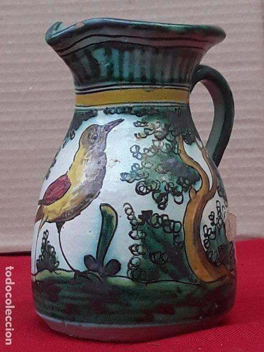 3 ) JARRA ANTIGUA EN CERAMICA PINTADA Y VIDRIADA DE PUENTE DEL ARZOBISPO ( TOLEDO ) (Antigüedades - Porcelanas y Cerámicas - Puente del Arzobispo )