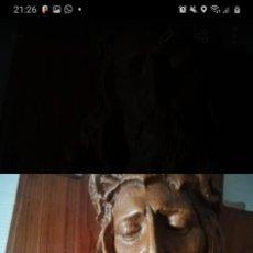 Antigüedades: ANTIGUA TALLA EN MADERA DE CRISTO PIEZA ÚNICA. Lote 218744730