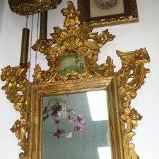Antigüedades: SOBERBIO ESPEJO CORNUCOPIA ANTIGUO DE 130 CM - ENVÍO GRATIS PENÍNSULA. Lote 239410120