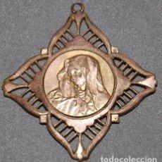 Antigüedades: MEDALLA DE COBRE SIGLO XIX DOLOROSA -Nº553. Lote 218751943
