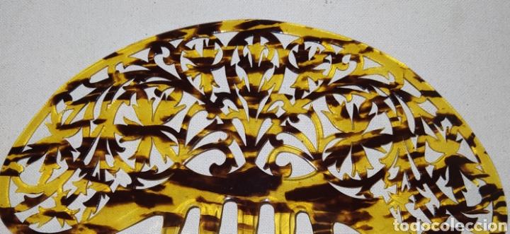 Antigüedades: Antigua peineta de carei para mantilla - Foto 3 - 218754965