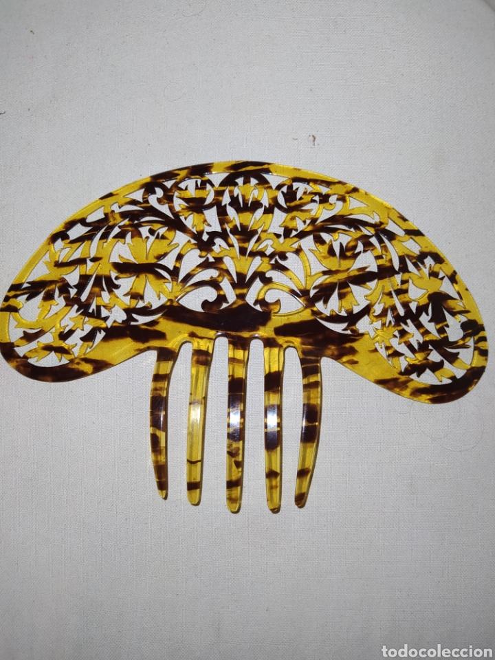 Antigüedades: Antigua peineta de carei para mantilla - Foto 2 - 218754965