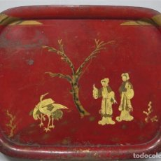 Antigüedades: ANTIGUA BANDEJA LACADA. JAPON. SIGLO XIX. GRANDE. Lote 218759756