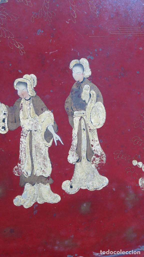 Antigüedades: ANTIGUA BANDEJA LACADA. JAPON. SIGLO XIX. GRANDE - Foto 3 - 218759756