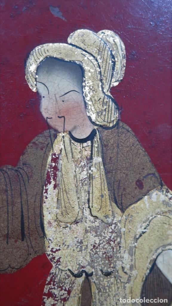 Antigüedades: ANTIGUA BANDEJA LACADA. JAPON. SIGLO XIX. GRANDE - Foto 7 - 218759756