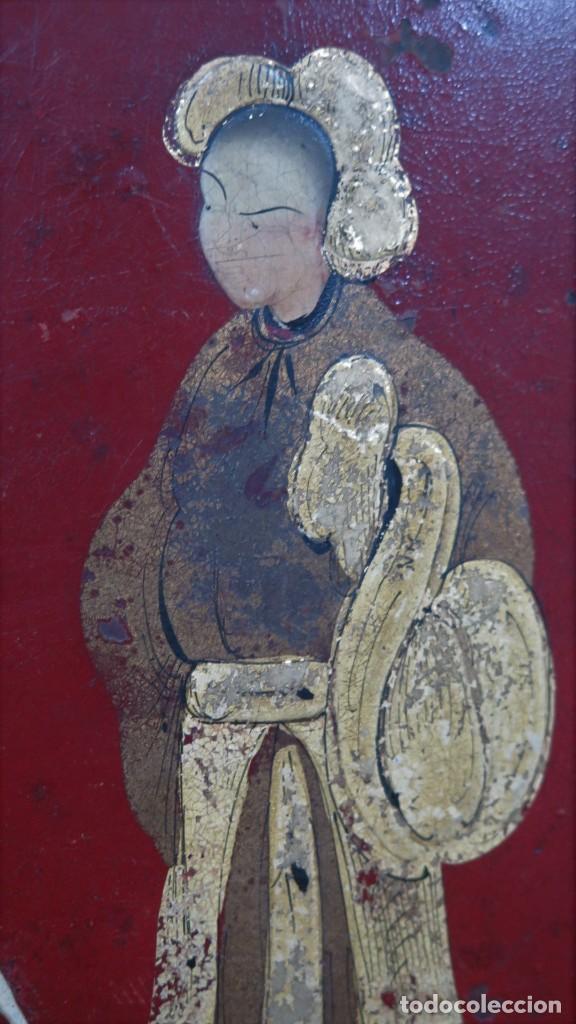 Antigüedades: ANTIGUA BANDEJA LACADA. JAPON. SIGLO XIX. GRANDE - Foto 8 - 218759756
