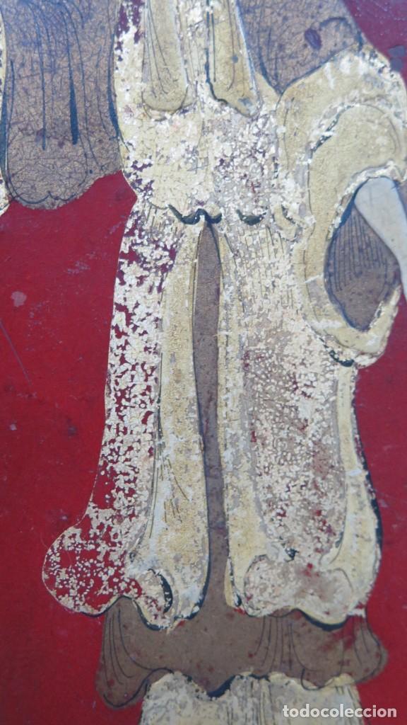 Antigüedades: ANTIGUA BANDEJA LACADA. JAPON. SIGLO XIX. GRANDE - Foto 9 - 218759756