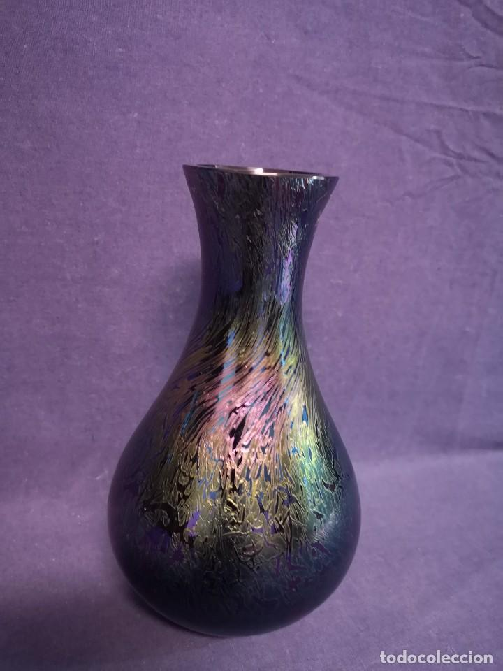 Antigüedades: JARRON EN CRISTAL IRIDISCENTE - Foto 2 - 218763623