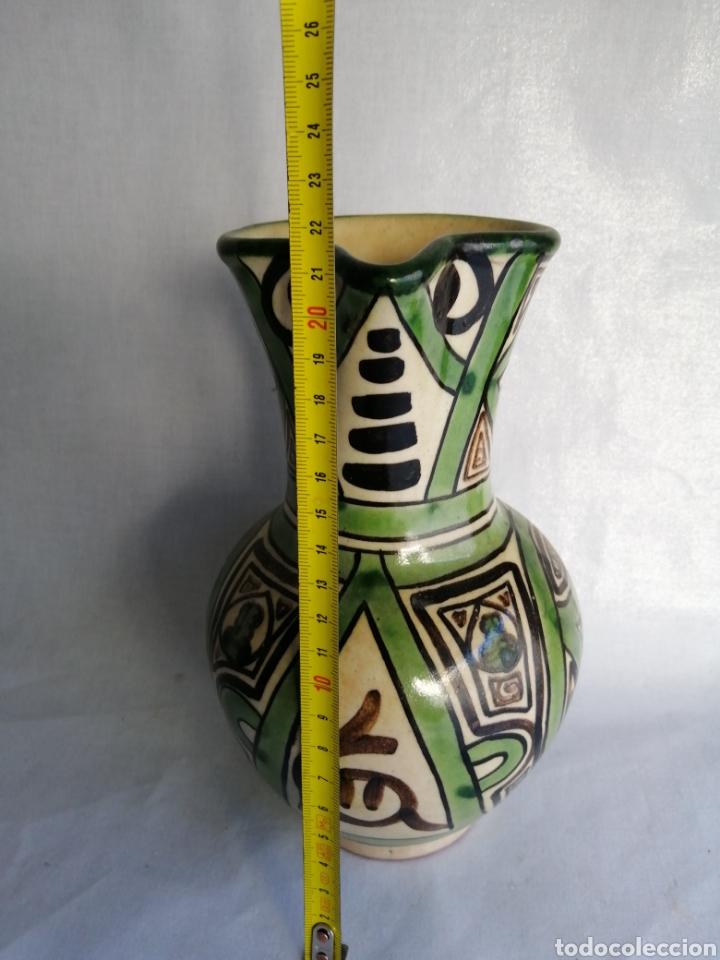 Antigüedades: Bonita jarra jarrón de ceramica antigua punter Teruel firmado - Foto 5 - 100594996