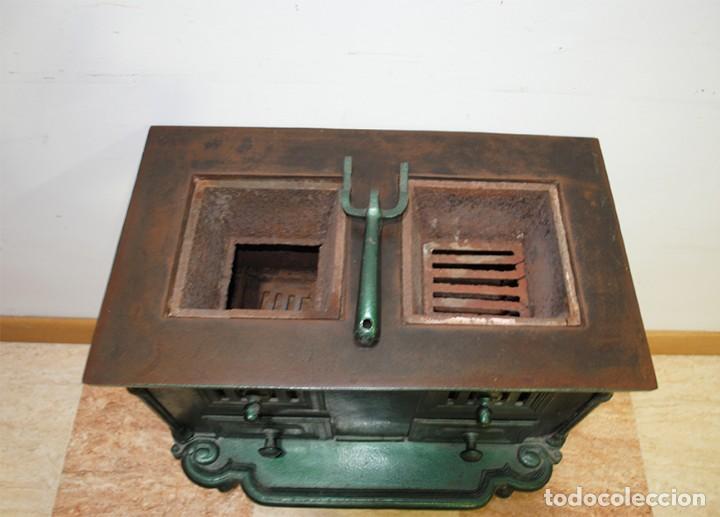 Antigüedades: COCINA ANTIGUA DE PORCELANA ESMALTADA SIGLO XIX - Foto 4 - 218772061