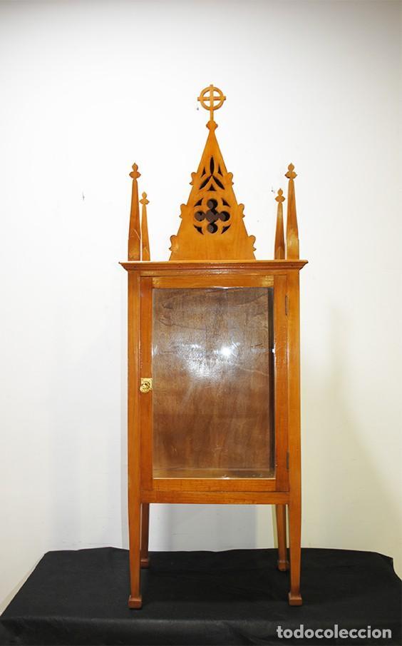 CAPILLA ANTIGUA HORNACINA ESTILO MODERNISTA (Antigüedades - Religiosas - Artículos Religiosos para Liturgias Antiguas)