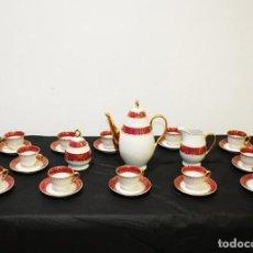 Antigüedades: JUEGO DE CAFÉ ANTIGUO PORCELANA LIMOGES. Lote 218772638