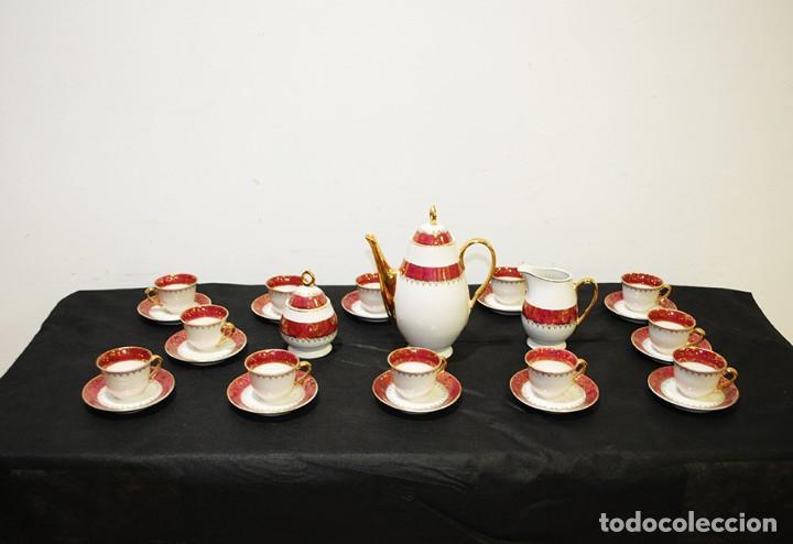 Antigüedades: JUEGO DE CAFÉ ANTIGUO PORCELANA LIMOGES - Foto 2 - 218772638