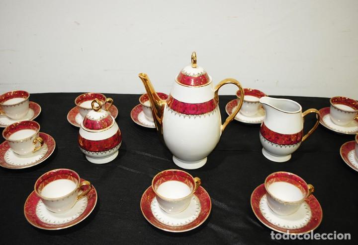 Antigüedades: JUEGO DE CAFÉ ANTIGUO PORCELANA LIMOGES - Foto 3 - 218772638