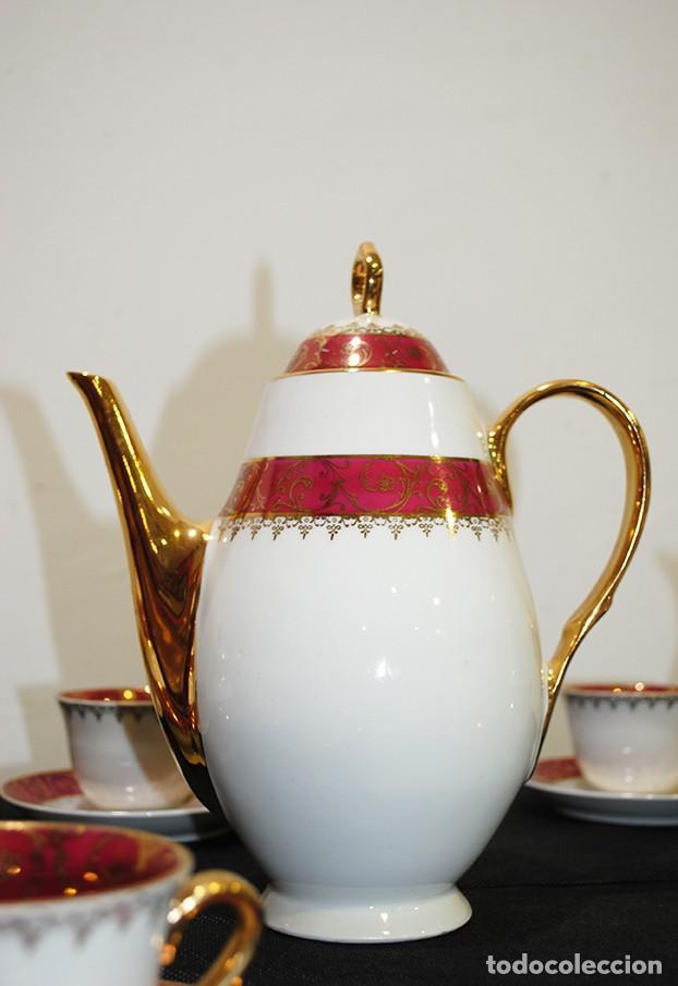 Antigüedades: JUEGO DE CAFÉ ANTIGUO PORCELANA LIMOGES - Foto 5 - 218772638