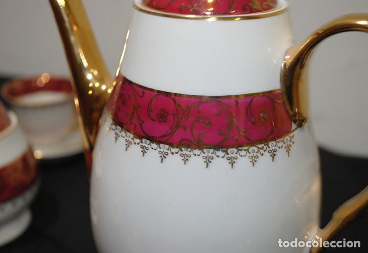 Antigüedades: JUEGO DE CAFÉ ANTIGUO PORCELANA LIMOGES - Foto 7 - 218772638