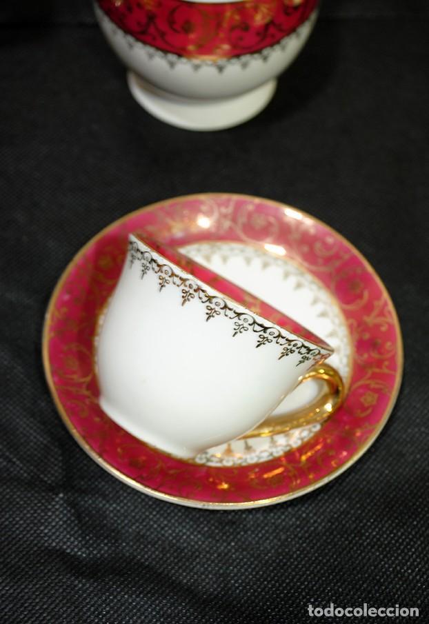 Antigüedades: JUEGO DE CAFÉ ANTIGUO PORCELANA LIMOGES - Foto 9 - 218772638