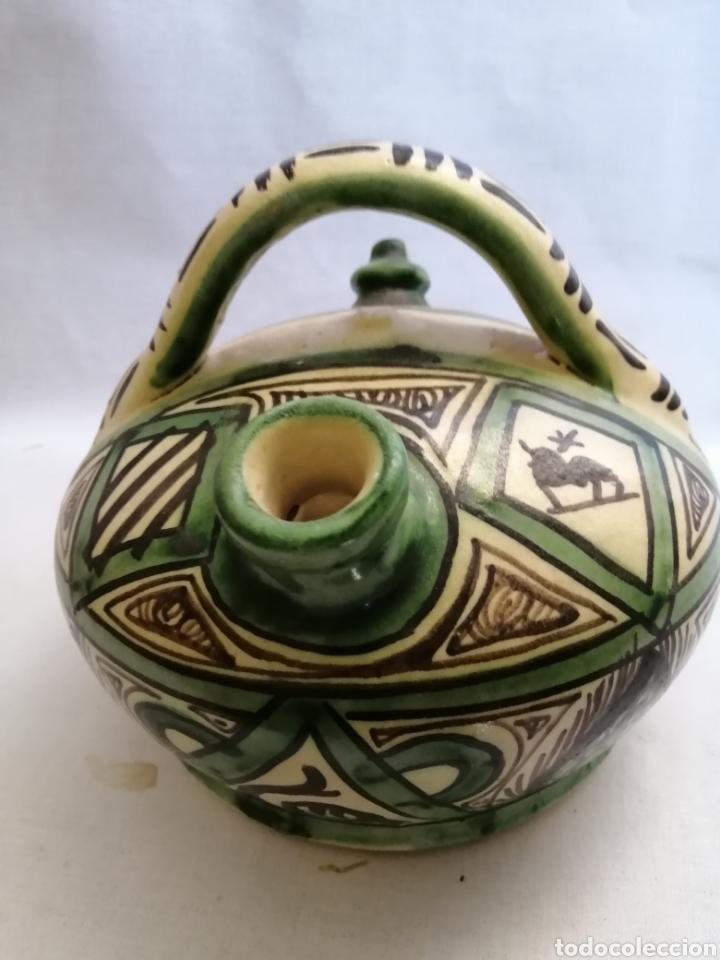 Antigüedades: Bonito Botijo de ceramica antigua domingo punter Teruel firmado - Foto 4 - 218773631