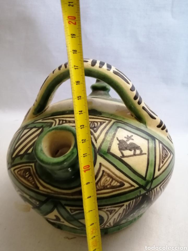 Antigüedades: Bonito Botijo de ceramica antigua domingo punter Teruel firmado - Foto 5 - 218773631