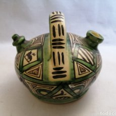 Antigüedades: BONITO BOTIJO DE CERAMICA ANTIGUA DOMINGO PUNTER TERUEL FIRMADO. Lote 218773631