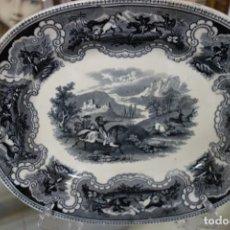Antigüedades: FUENTE DE CERÁMICA DE CARTAGENA DEL SIGLO XIX. Lote 218775015
