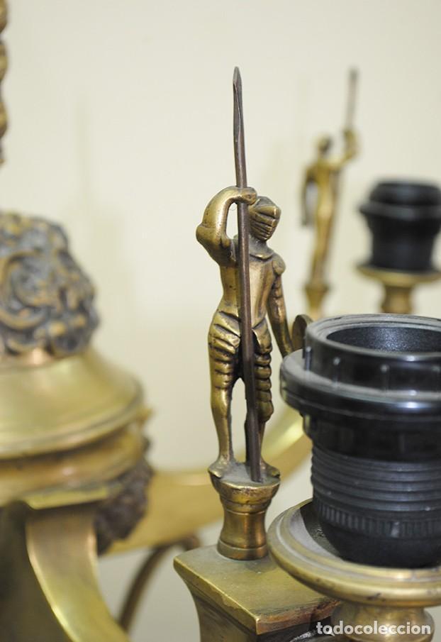 Antigüedades: CANDELABROS ANTIGUOS DE BRONCE DORADO RENACIMIENTO - Foto 3 - 218778825