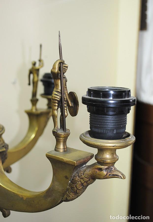 Antigüedades: CANDELABROS ANTIGUOS DE BRONCE DORADO RENACIMIENTO - Foto 4 - 218778825