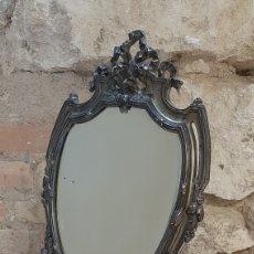 Antigüedades: ANTIGUO ESPEJO DE TOCADOR MAGNEFICO DISEÑO. Lote 218780040
