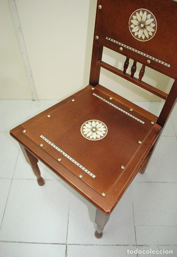 Antigüedades: JUEGO DE 6 SILLAS ANTIGUAS ESTILO MODERNISTA - Foto 10 - 218780613