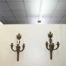 Antigüedades: APLIQUES ANTIGUOS DE BRONCE DORADO. Lote 218780928