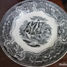 Antigüedades: PLATO LLANO DE CERÁMICA DE CARTAGENA DEL SIGLO XIX. Lote 218782678