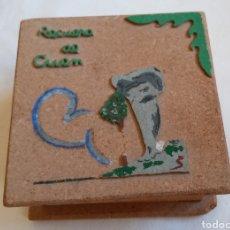 Antigüedades: ANTIGUA CAJITA DE CORCHO RECUERDO DE CUENCA. Lote 218794227