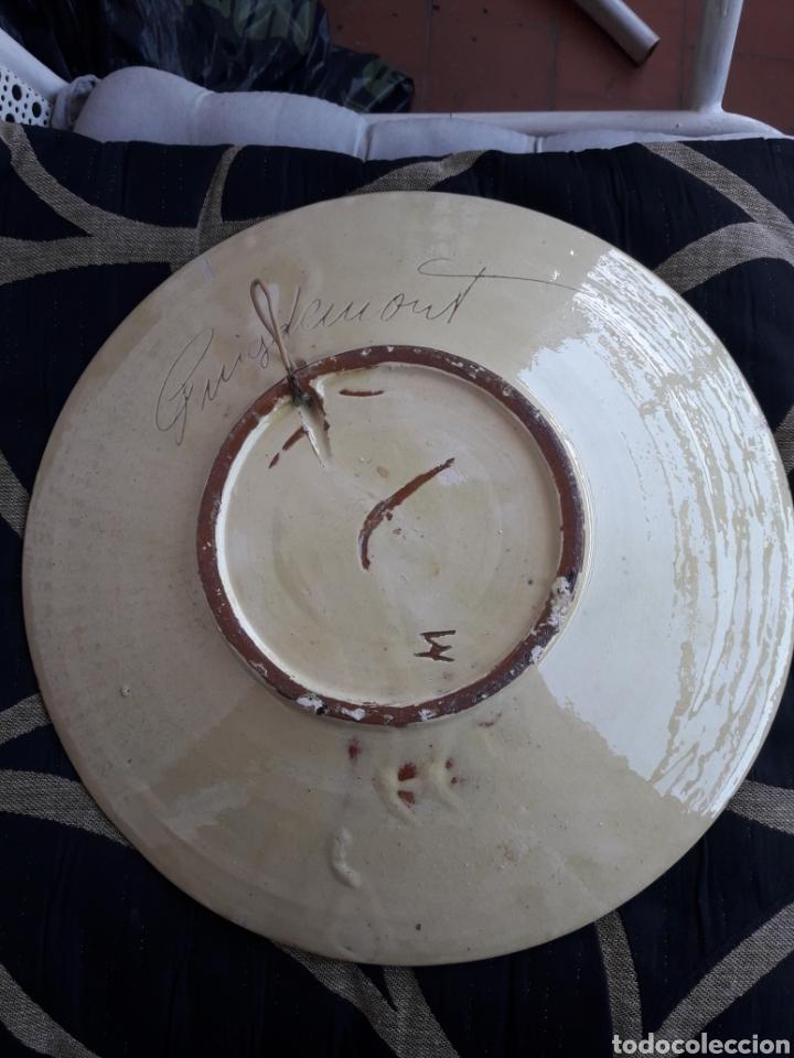 Antigüedades: Antiguo gran plato de cerámica Puigdemon - Foto 2 - 218794290