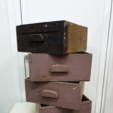 Antigüedades: LOTE CAJONES INDUSTRIALES. Lote 218807453