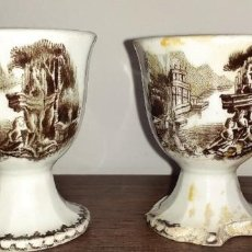 Antigüedades: ANTIGUAS HUEVERAS DE CERAMICA, SIN SELLO, CARTAGENA.. Lote 218807801