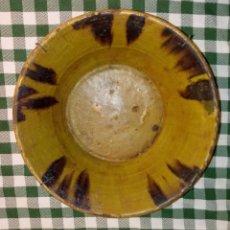 Antigüedades: ANTIGUA JOFAINA FUENTE RECIPIENTE DE CERÁMICA - 30 X 12 X 18 CMS. Lote 218811122