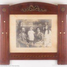 Antigüedades: MARCO MODERNISTA - RETRATO FAMILIAR A. BARÓ. Lote 218827412