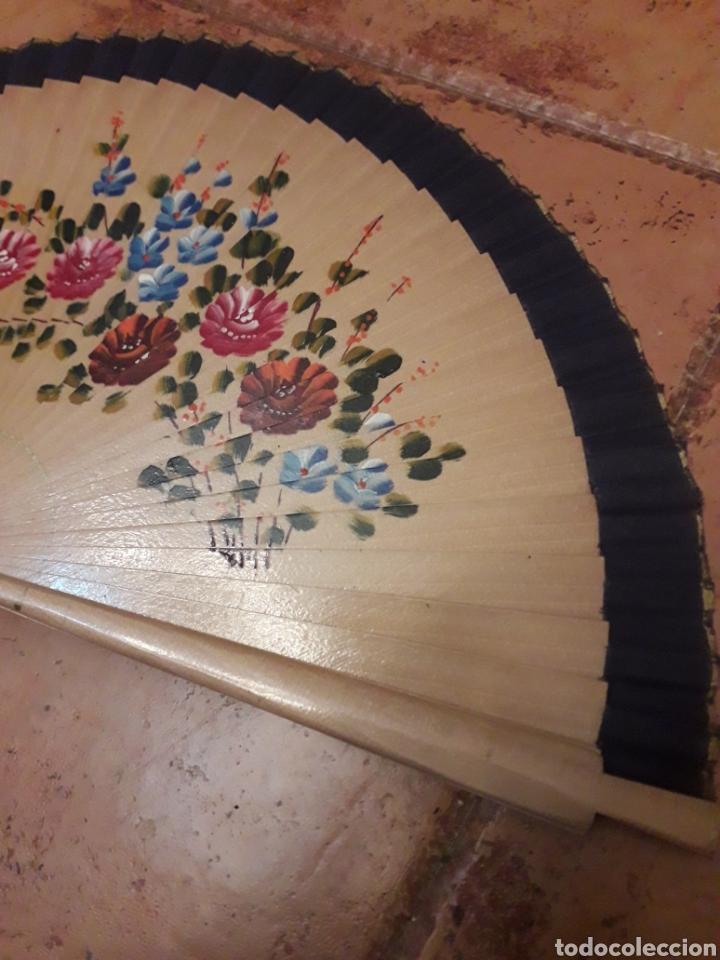 Antigüedades: Abanico Pintado a Mano - Foto 2 - 218839671