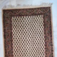 Antigüedades: ALFOMBRA MIR (INDIA) DE LANA 160 X 91 CM DE LOS AÑOS 90 - HECHA A MANO. Lote 218871120