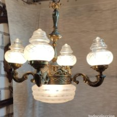 Antigüedades: MAGNIFICA LAMPARA DE TECHO 5 LUCES. Lote 218873843