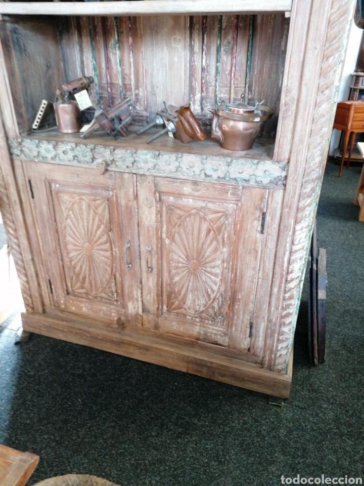 Antigüedades: Librería de madera reciclada - Foto 2 - 218879017