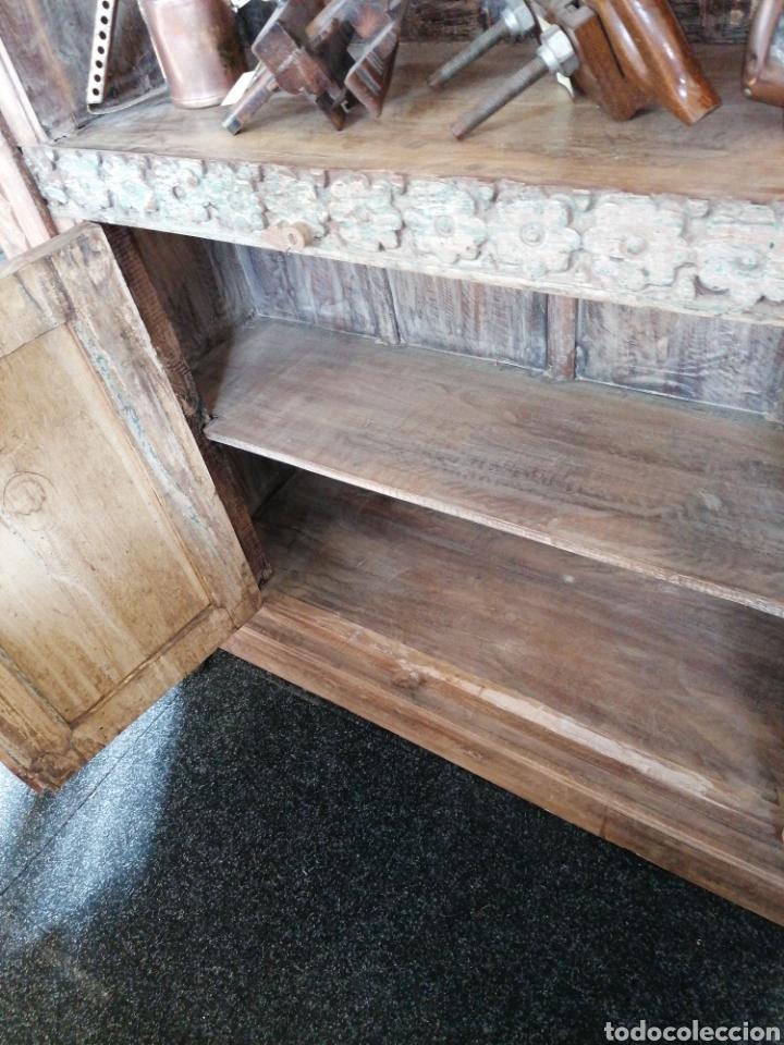 Antigüedades: Librería de madera reciclada - Foto 5 - 218879017