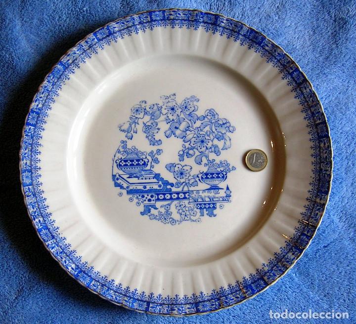 GRAN PLATO / FUENTE PARA SERVIR - PORCELANA CHINA BLAU - SANTA CLARA - DE 31 CMS DE DIAMETRO. COCINA (Antigüedades - Porcelanas y Cerámicas - Santa Clara)