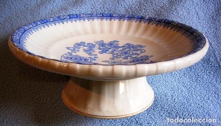 FUENTE FRUTERO / CENTRO DE MESA - PORCELANA CHINA BLAU, SANTA CLARA. 25,50 CMS DE DIAMETRO. COCINA (Antigüedades - Porcelanas y Cerámicas - Santa Clara)
