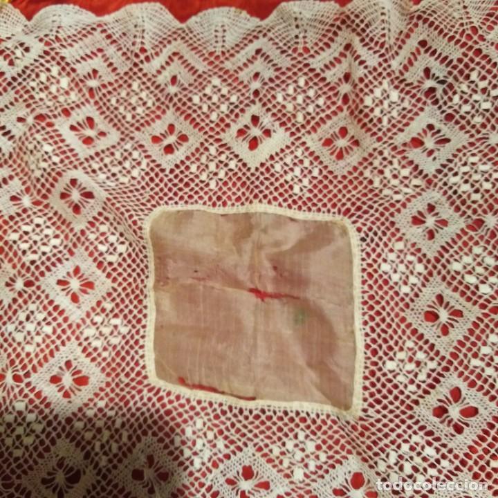 Antigüedades: Antiguo Pañuelo, encaje bolillos de Almagro , siglo xix - Foto 2 - 218913353