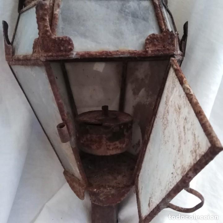 Antigüedades: Antigua lámpara de aceite, farol procesional, siglo xviii - Foto 3 - 218916897